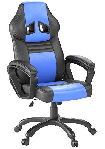 Seatzone Swivel Office Chair Racing Car Style Bucket Seat