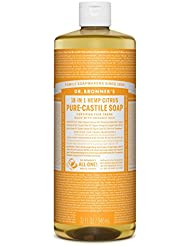 Dr. Bronner's Organic Pure Castile Liquid Soap, Citrus Oil, 32 oz