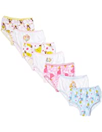 Disney girls Toddler Girls Princess 7-pack Panties