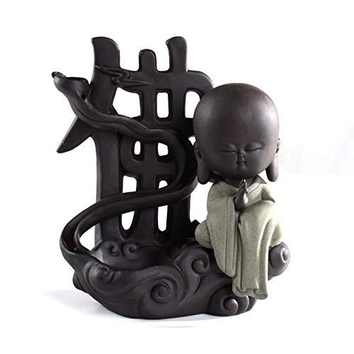 Incense burner Backflow Incense Burner Purple Sand Aromatherapy Stove Tea Ceremony To Watch The Smoke Flow Antique Incense Fragrance Home Office Decoration Ornaments (size: 20 16.5 Cm) Household aro
