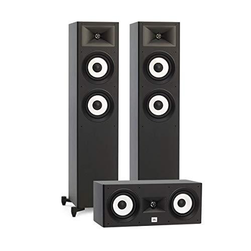 - JBL 3.0 System with 2 JBL Stage A180 Floorstanding Speakers, 1 JBL Stage A125C Center Speaker