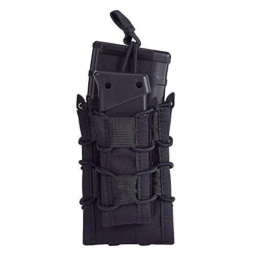 EMERSONGEAR Double Decker Mag Pouch Multicamo Airsoft AK47 M4 M16 Molle Tactical Pouch Clip For Vest Belt EM6346 (BK)
