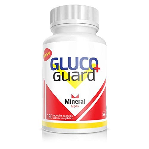 GlucoGuard+ Blood Sugar Supplement 180 Vegetable Capsules Helps To Promote Healthy Glucose Metabolism