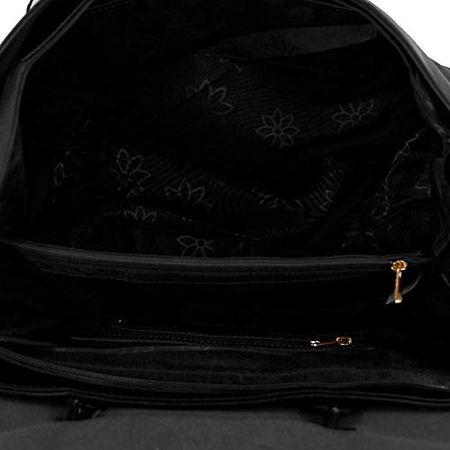 Grande Tipo Con Borsa Bag Nera In Giorno A Lavoro Passeggio Nero Tracolla Vintage Cuoio Ecopelle Shopper Shopping Capiente Mano Donna Viaggio Spalla Color Da Yvr7Yq