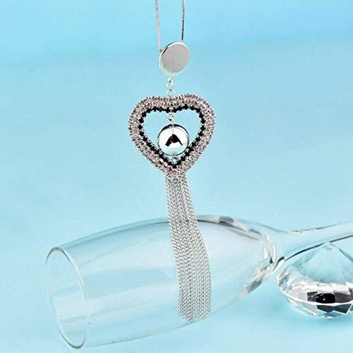 Kar-Acces - Vintage Rhinestone Hollow Heart/Round & Ball Long Tassel Pendant Women Necklaces Costume Jewelry Accessories MY439 SSH