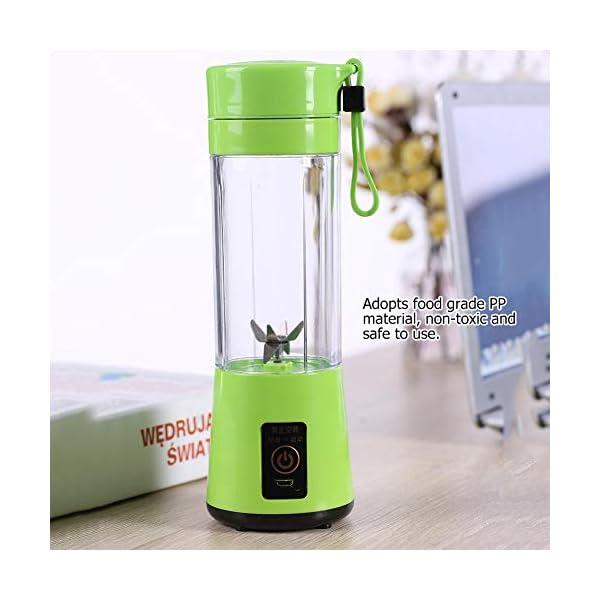 Zerone Portable Juicer, 350-400ML Frullatore estrattore di succo di frutta ricaricabile Plactic USB ricaricabile(verde) 4 spesavip