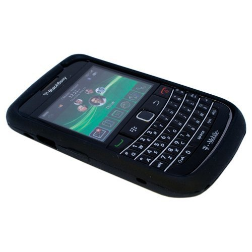 Black Silicone Soft Skin Case Cover for Blackberry Bold 9700, Onyx 9700, 9020, 9780 (9700 Silicone)