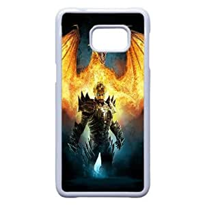 Back Skin Case Shell Samsung Galaxy Note 5 Edge Cell Phone Case White drakony igry ogon Edtrk Pattern Hard Case Cover