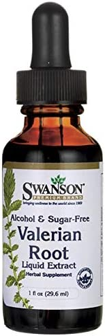 Swanson Valerian Root Liquid Extract Alcohol and Sugar-Free 1 fl Ounce 29.6 ml Liquid
