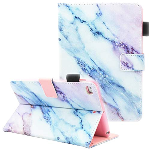 iPad Mini Case, iPad Mini 2 Case, iPad Mini 3 Case, iPad Mini 4 Case, Fvimi Multi-Angle Viewing Folio Smart Leather Cover with Auto Sleep/Wake Function for Apple iPad Mini 1/2/3/4, Marble