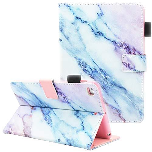 iPad Mini Case, iPad Mini 2 Case, iPad Mini 3 Case, iPad Mini 4 Case, Fvimi Multi-Angle Viewing Folio Smart Leather Cover with Auto Sleep/Wake Function for Apple iPad Mini 1/2/3/4, Marble (Best Ipad Mini Case)