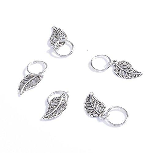 Huphoon 20 Pcs Lady Girl Creative Braid Gold Silver Ring Hai