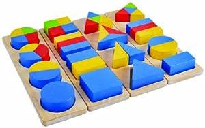 Plan Education Mathematics Wooden Fraction Sorter