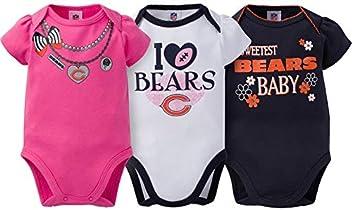 896dbe63b Gerber Childrenswear Chicago Bears 3Pck Bodysuit Sweetest Baby