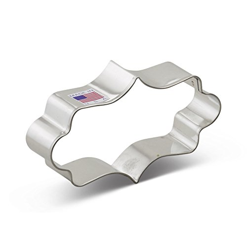 Ann Clark Long Fancy Plaque Cookie Cutter - 4 Inches - Tin Plated Steel