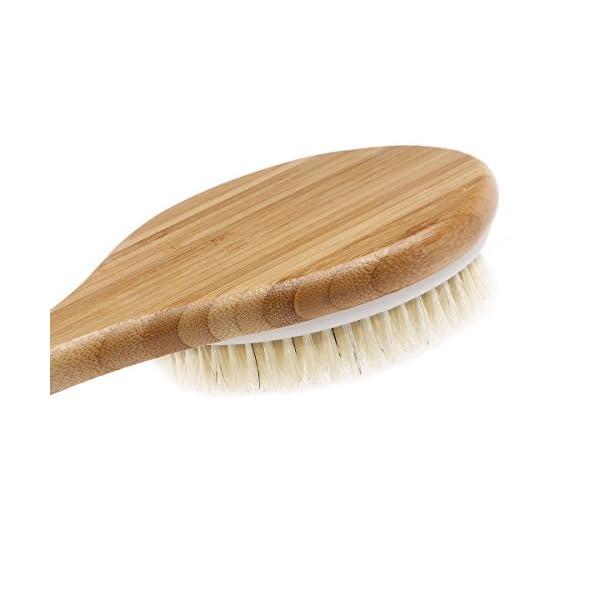 Body Back Brush - LEORX Shower Bath Body Brush Natural Bristles with Long Handle