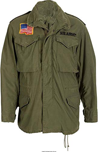 (UGFashions John Rambo First Blood M65 Military US Army Olive Green Cotton Coat Jacket)