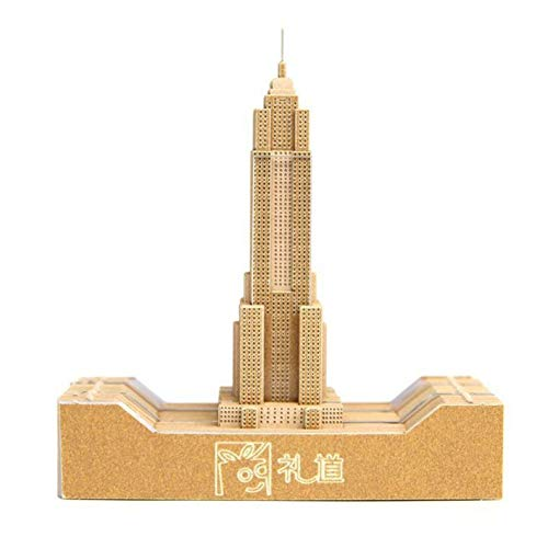 1Pc 109 sheets DIY Paper Art Building Block 3D Stick Notes Convenience Stickers Papers Card Craft Creative Post notes (Empire State Building)