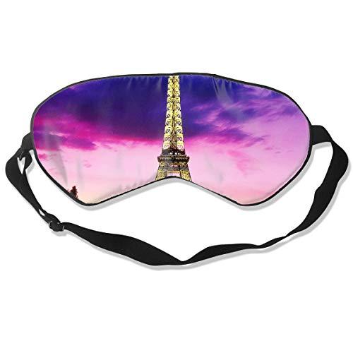 ZHENHUN Paris Eiffel Tower Sky Silk Sleep Eye Mask Shade Best Sleeping Eye Cover for Travel Nap Full Night¡¯s Sleep Super Soft with Adjustable Strap]()
