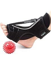 Plantar Fasciitis Night Splint, Diggtek Foot Drop Orthotic Brace, Adjustable Elastic Night Splint for Plantar Fasciitis, Heel, Ankle, Arch Foot Pain, Achilles Tendonitis with Hard Spiky Massage Ball.