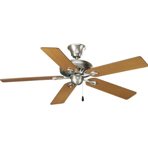 Progress Lighting P2521-81 52-Inch Signature 5-Blade Fan with 153 X 18 Reversible Motor, Antique Nickel