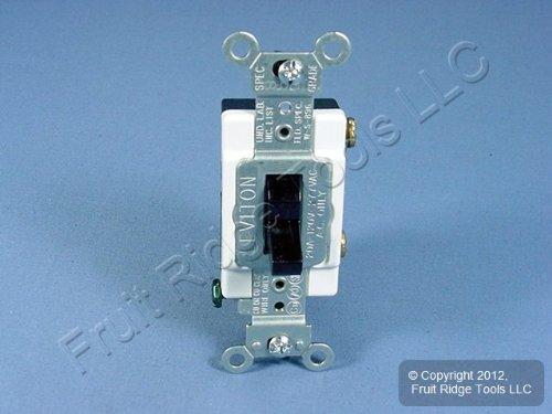 Leviton 20 Amp Single-Pole Toggle Quiet Switch, Black from Leviton