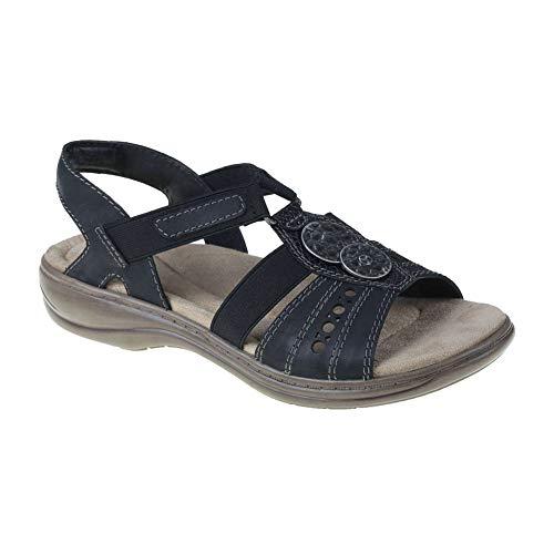 Earth Origins New Women's Stella Sasha Sandal Black 6 (Womens Sandals Earth Shoes)