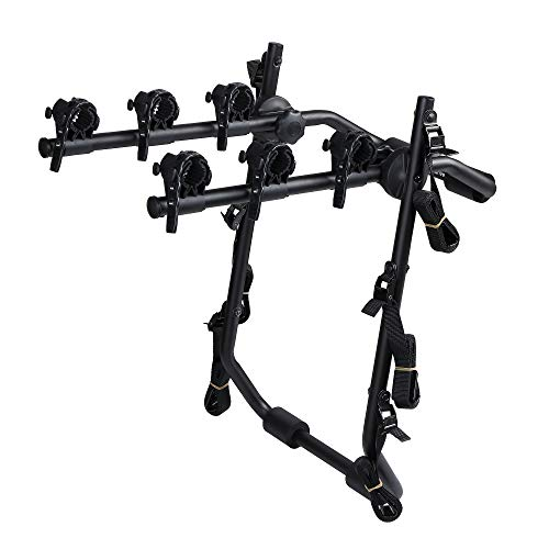 Overdrive Sport 3-Bike Trunk Mounted Bicycle Carrier Rack - Fits Most Sedans, Hatchbacks, Minivans and SUVs (Best Bike Rack For Hatchback)