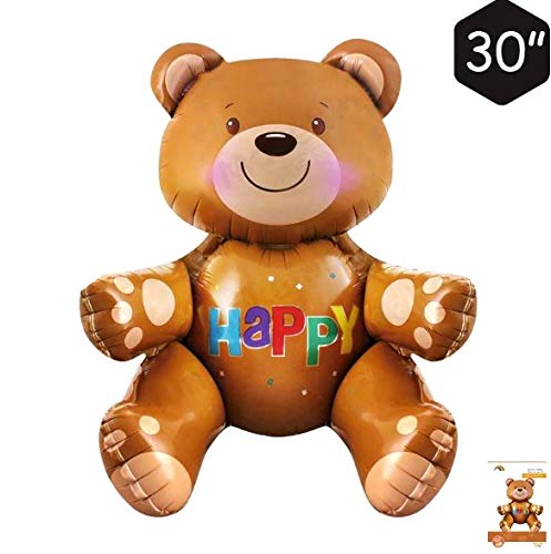 (Giga Gud Bear Balloons Teddy Bear Balloon 32 inch for Wedding Baby Shower Birthday Valentine's Day Party)