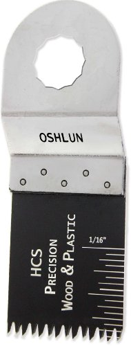 Oshlun MMR-1003 1-1/3-Inch Precision Japan HCS Oscillating Tool Blade for Rockwell or Worx SoniCrafter Hex, 3-Pack