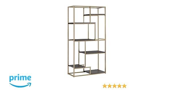 Amazon.com: Furniture Of America Corley Contemporary 6 Shelf Bookcase,  Champagne: Kitchen U0026 Dining