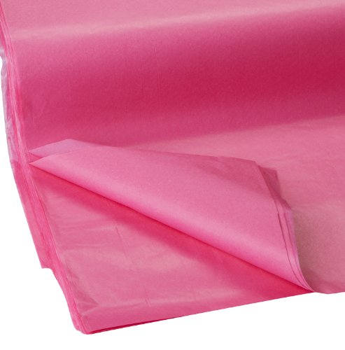 Jillson Roberts Bulk 20 x 30 Inches Recycled Tissue Available in 28 Colors, Magenta, 480 Unfolded Sheets (BFT10) (Available Paper)