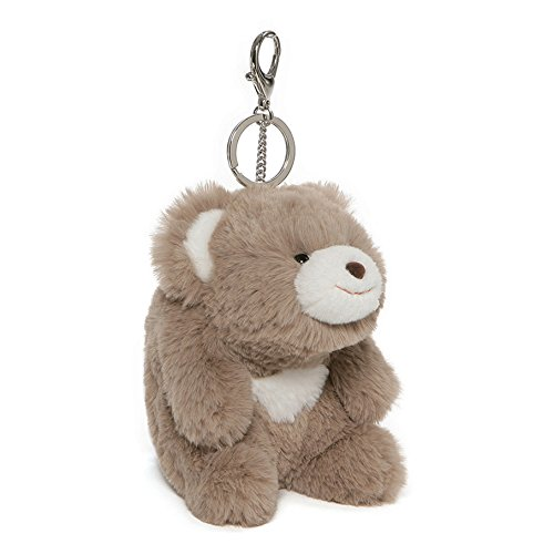 GUND Snuffles Teddy Bear Stuffed Animal Plush Keychain Taupe 5""