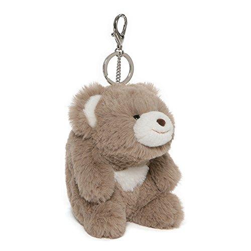 GUND Snuffles Teddy Bear Stuffed Animal Plush Keychain, Taupe, (Teddy Bear Key)