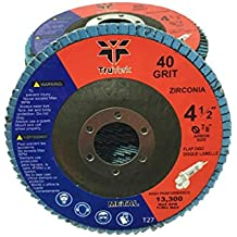 "Flap Discs - 4.5"" High Performance Zirconia Abrasive - Sanding, Sand Disc - For Angle Grinder - Grinding Wheel Metal, Wood, Weld 7/8"" Arbor size 10 Pack (5 40 grit & 5 80 grit)"