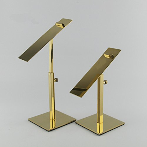 (10PCS/PACK Gold Mirror Stainless Steel Shoes display stand holder racks)