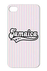 Jamaica Reggae Dance Hall Ragga Dub Rock Metal Music Black For Iphone 4/4s Cover Case