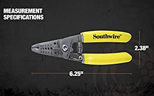 Southwire Tools & Equipment S1018STR Wire Stripping Tool, Wire Stripper and Wire Cutter for 10-18 AWG Solid Wire and 12-20 AWG Stranded Wire