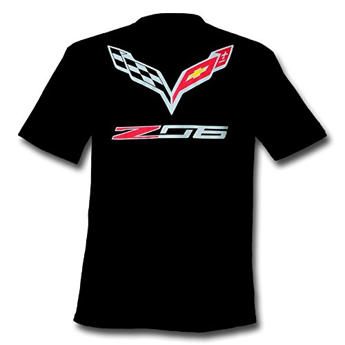 Corvette Stingray Crossed Flags T shirt product image