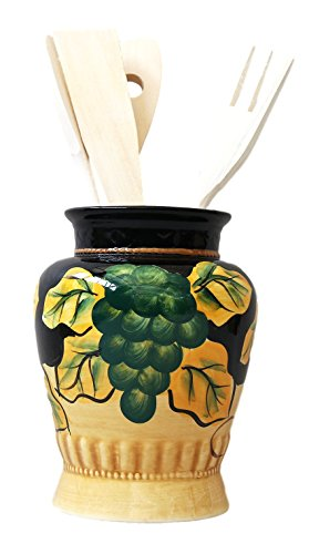 Winter Fruit Kitchen Utensil Holder Tuscany Black Decor14