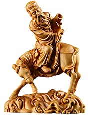 Jewelry Ornaments Carving Process Solid Wood Chinese Decorative Figures Beautiful Flowery Years