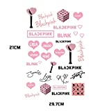 SosoJustgo2 BLACKPINK LISA JENNIE Concert Tattoo Stickers Temporary Tattoo Stickers(01)