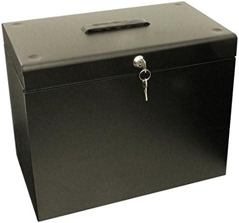 Papel A4 caja de almacenaje de metal – negro (991059200): Amazon ...