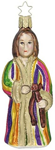 Inge-Glas Joseph & His Coat German Glass Christmas Ornament #40100807