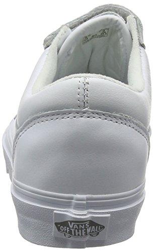 Old V Vans Chaussures true Leather Blanc De Whitemono Running Adulte Skool Mixte fUUdawxq