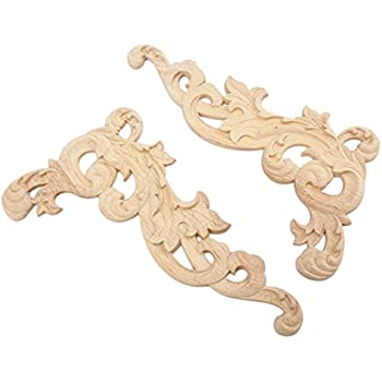 2pcs 1pcs european style wood carved corner onlay applique frame