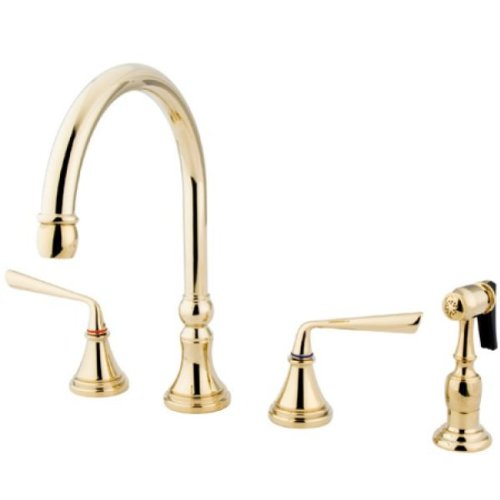 Hole Polishe Brass Kitchen Faucet