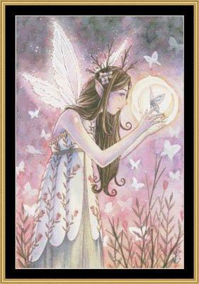 Mystic Stitch Chart - Birth Of Twilight Cross Stitch Chart and Free Embellishment