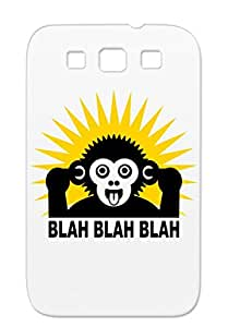 TPU Gold Case For Sumsang Galaxy S3 Monkey Ape Satire Dogmatist Chimpanzee Tongue Babble Blah Provocative Funny Blah Ape Scratch-free