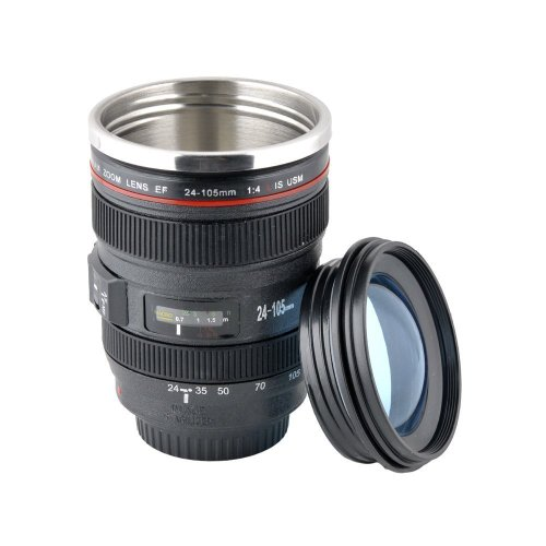 Lychee® EF 24-105mm Caniam DSLR Camera Lens Travel Coffee Mug / Cup / Thermos ,Ideal for shutterbug and Literature youth